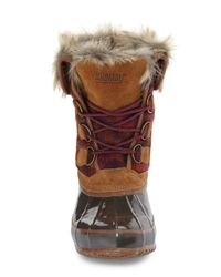 Khombu - Brown Lace-up Winter Boot - Lyst