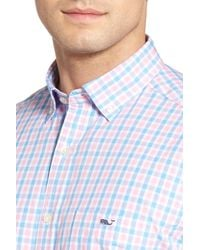 Vineyard Vines - Blue Saddle Bay Tucker Classic Fit Check Sport Shirt for Men - Lyst