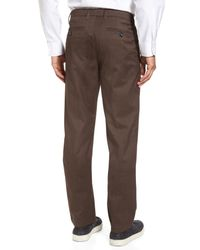 Ted Baker - Brown Freshman Modern Fit Brushed Pants for Men - Lyst