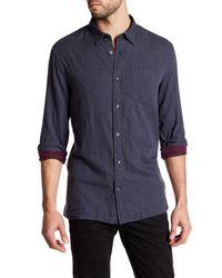 Vince - Blue Double Weave Shirt for Men - Lyst
