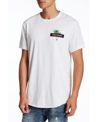 True Religion - White Twin Palms Graphic Short Sleeve Tee for Men - Lyst