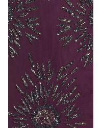 Pisarro Nights - Purple Starburst Beaded Mesh Sheath Dress - Lyst