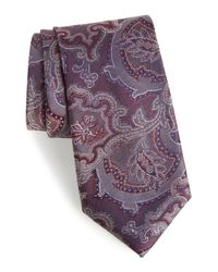 Calibrate - Purple Ellerson Paisley Silk Tie for Men - Lyst