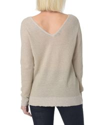 NYDJ - Multicolor Double V-neck Sweater - Lyst