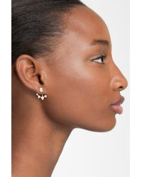 Nadri - Metallic Prong Set Cz Jacket Earrings - Lyst