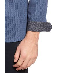 Ted Baker - Blue Merigeo Print Sport Shirt for Men - Lyst