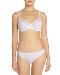 Chantelle | White Revele Moi Brief Cut Panty | Lyst