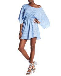 Tiare Hawaii - Blue Wave Print Mini Dress - Lyst