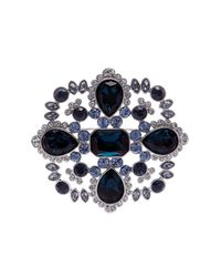 Givenchy - Multicolor Crystal Accented Cluster Brooch - Lyst