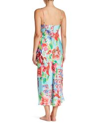 Natori - Multicolor Star Blossom Satin Nightgown - Lyst