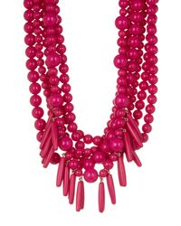 BaubleBar - Multicolor Malibu Layered Beaded & Spike Fringe Statement Necklace - Lyst