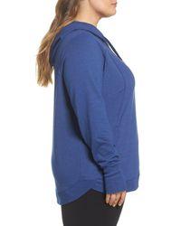 Zella - Blue En Route Pullover Hoodie (plus Size) - Lyst