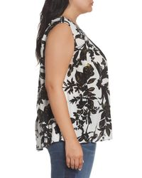 Caslon | Black Caslon Print Sleeveless Top | Lyst