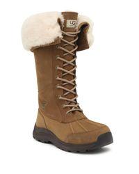Ugg - Brown Adirondack Iii Waterproof Suede Tall Boot - Lyst