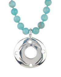 Simon Sebbag - Metallic Angelite Beaded Jade Necklace With Sand Doll Charm - Lyst