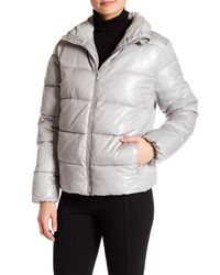 Joe Fresh | Metallic Funnel Neck Puffer Jacket | Lyst