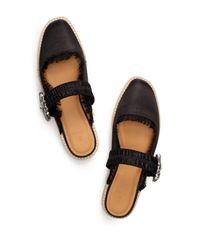 Bill Blass Black Addy Rhinestone Embellished Slip-on Mule