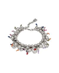 Uno De 50 | Metallic Aserran Multicolor Cord Beaded Bracelet | Lyst