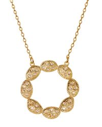 Melinda Maria | Metallic Ashley Scallop Flower Cutout Pendant Necklace | Lyst