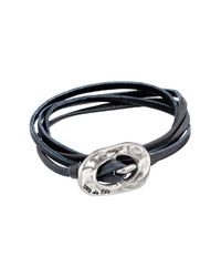 Uno De 50 - Blue Around The Universe Leather Wrap Bracelet - Lyst