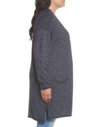 Caslon - Blue Drop Shoulder Open Cardigan - Lyst