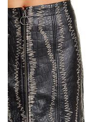 Free People - Black Obsessed Genuine Leather Mini Skirt - Lyst
