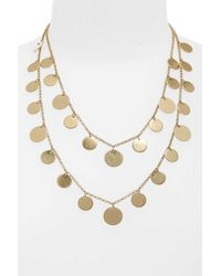 Panacea - Metallic Double Strand Necklace - Lyst