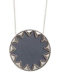 House of Harlow 1960 - Metallic Sunburst Pyramid Pendant Necklace - Lyst