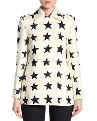 Max Mara - White Vociare Double Breast Wool Coat - Lyst
