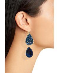 Panacea - Blue Crystal Drop Earrings - Lyst