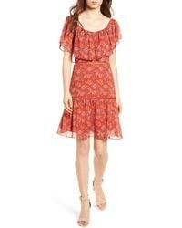 Rebecca Minkoff Red Lynne Chiffon Dress