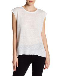 Inhabit - White Cutout Linen Blouse - Lyst