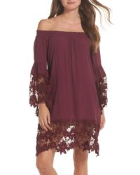 Muche Et Muchette - Purple Jolie Lace Accent Cover-up Dress - Lyst