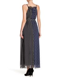 Haute Rogue - Black Polka Dot Maxi Dress - Lyst