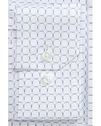 Calibrate - Blue Trim Fit Circle Print Dress Shirt for Men - Lyst