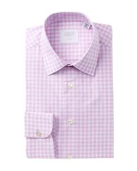 Smyth & Gibson | Pink Poplin Plaid Tailored Fit Dress Shirt for Men | Lyst