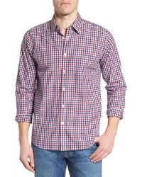 Jeremy Argyle Nyc - Red Slim Fit Check Sport Shirt for Men - Lyst