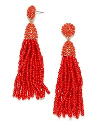 BaubleBar - Red Pinata Tassel Earrings - Lyst