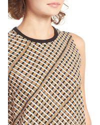 RVCA - Black Seldom Basketweave Print Shift Dress - Lyst