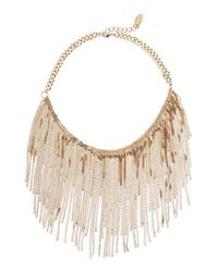 Cara - Metallic Linear Chain Necklace - Lyst