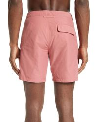 "Onia - Pink Calder 7.5"" Solid Trunks for Men - Lyst"