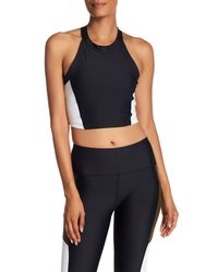 C&C California - Black T-back Padded Crop Tank - Lyst