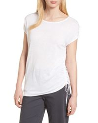 NIC+ZOE - White Refreshing Side Tie Top - Lyst