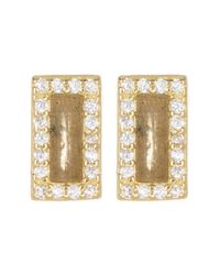 Argento Vivo - Metallic 18k Gold Plated Sterling Silver Rectangular Stud Earrings - Lyst