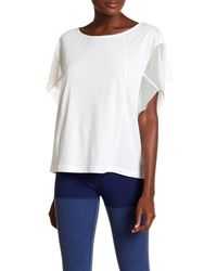 Free People - White Wild Back Graphic Print Mesh Tee - Lyst