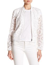 Laundry by Shelli Segal - White Peek Lace Jacket - Lyst