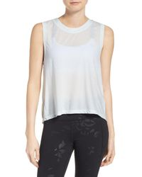Under Armour - White Breathe Muscle Tee - Lyst