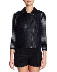 Jack BB Dakota | Black Kendie Faux Leather Vest | Lyst
