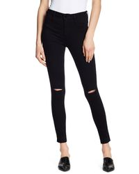 William Rast - Black Sculpted High Rise Skinny Jeans - Lyst