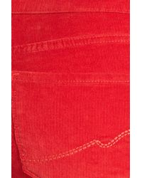NYDJ - Red 'marilyn' Stretch Straight Leg Corduroy Pants - Lyst